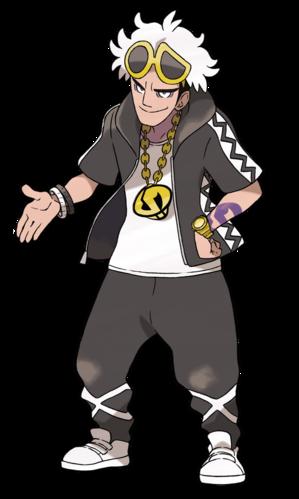 Guzmán en Pokémon Sol y Pokémon Luna