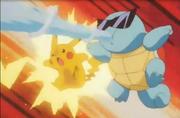 EP149 Pikachu y Squirtle atacando