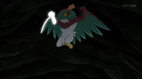 EP913 Hawlucha de Ash usando golpe kárate