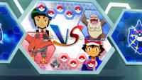 EP930 Pantalla del combate de Ash y Sabino (2)