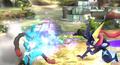 Mega-Lucario usando palmeo SSB4 Wii U