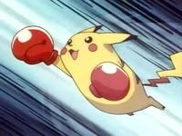 EP029 Pikachu usando su golpe especial