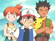 EP139 Ash, Brock y Misty