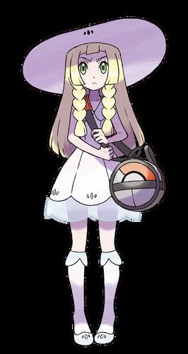 "Lylia en <a href=""/wiki/Pok%C3%A9mon_Sol_y_Pok%C3%A9mon_Luna"" title=""Pokémon Sol y Pokémon Luna"">Pokémon Sol y Pokémon Luna</a>"