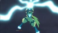 EP1044 Zeraora usa Puños plasma contra Pikachu
