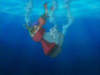 EP527 Probopass y Alan cayendo al agua