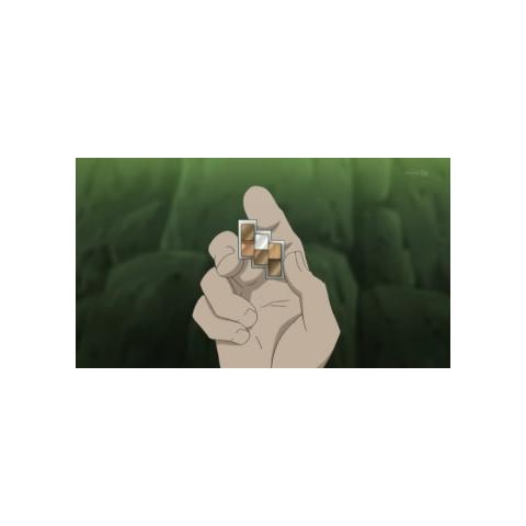 Medalla Muro/Risco en el anime.