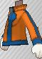 Chaqueta con cremallera naranja