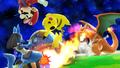 Charizard usando lanzallamas SSB4 Wii U