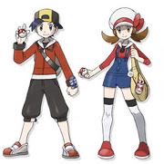 Ilustraciones de los protagonistas en HGSS