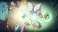P16 Pokémon cuidando de Mewtwo