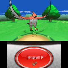 Batalla, en la que también se muestra el menú de combate.
