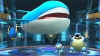Clawitzer, Wailord, Piplup y Blastoise SSB4 Wii U