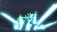EP1044 Zeraora usa Puños plasma contra Pikachu 2
