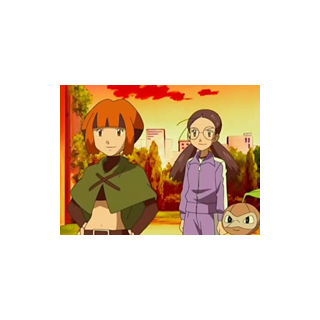 Yōko con Nuzleaf y Gardenia.