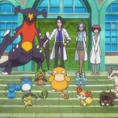 Garchomp junto al resto de los Pokémon del <a href=