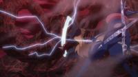 EP939 Mega-Lucario usando ataque óseo