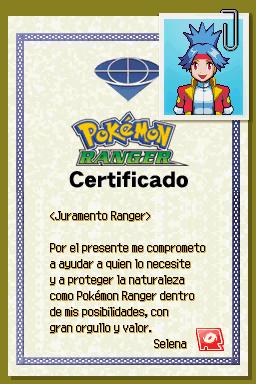Certificado Ranger de Selena