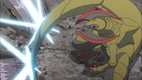 GEN13 Haxorus usando cola dragón