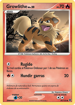 Carta de Growlithe