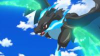 EP910 Mega-Charizard X de Alain usando garra dragón