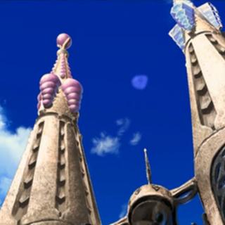Cimas de las torres, donde se puede ver que también están decoradas con perlas y diamantes.