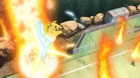 EP829 Pikachu usando Trepa meteoro dragón