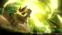 EP977 Pikachu usando rayo
