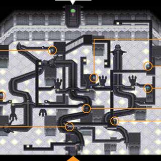 Interior del gimnasio de Ciudad Caolín en Pokémon Blanco.