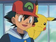 EP297 Ash junto a Pikachu
