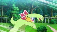EP1109 Pikachu usando Cola férrea