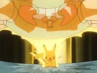EP140 Pikachu usando Rayo