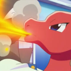 Charmeleon quemando a <a href=