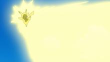 EP1004 Pikachu usando rayo