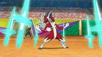 EP1075 Lycanroc usando Danza espada