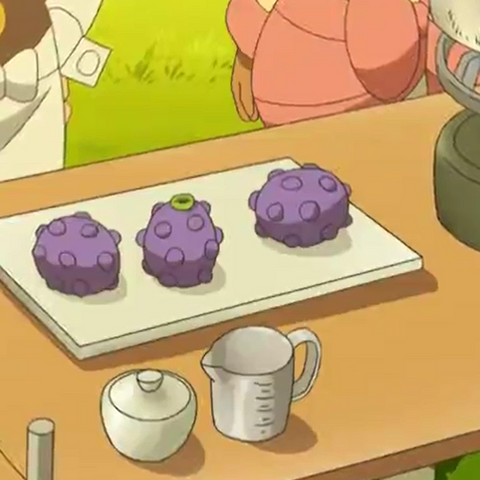 Bayas Wiki en el anime.