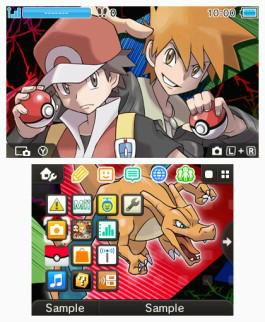 Tema 3DS Pokémon Edición Roja y Pokémon Edición Azul