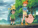 EP411 Misty, Max, Azurill, Pikachu y Cleffa