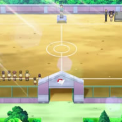 Campo de batalla del gimnasio de Ciudad Engobe.