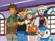 EP545 Brock, Ash, Aura y Maya