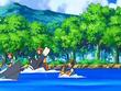 EP560 Alumnos cabalgando con sus Pokémon de tipo agua (3)