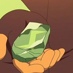 Piedra trueno en la mano de <a href=