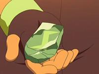 EP543 Piedratrueno en la mano de Ash