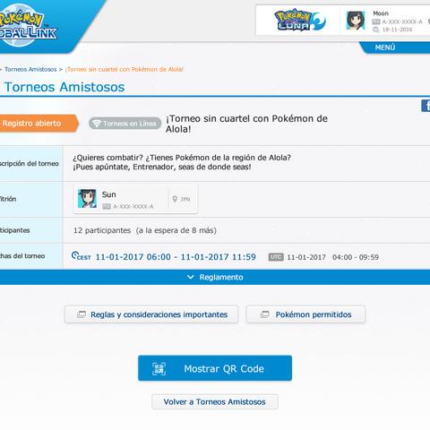 Otro jugador participando en el torneo previamente creado  (clic en la imagen para ampliar).