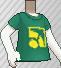 Camiseta con logotipo verde