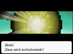 Spearow con mote evolucionando
