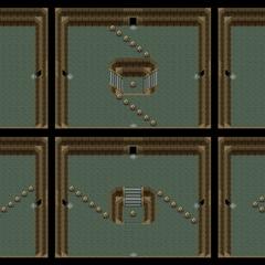 Cuartos aleatorios entre la entrada y el primer pilar.