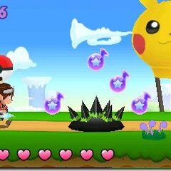 Un nivel del juego con un globo de <a href=