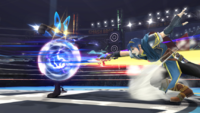 Lucario usando doble equipo SSB4 Wii U