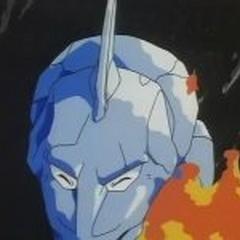 Onix siendo herido por lanzallamas
